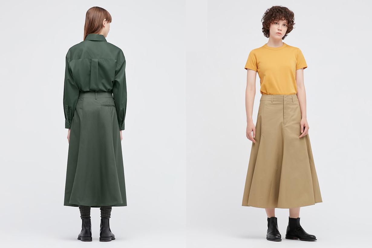 uniqlo-u-cotton-twill-flared-skirt