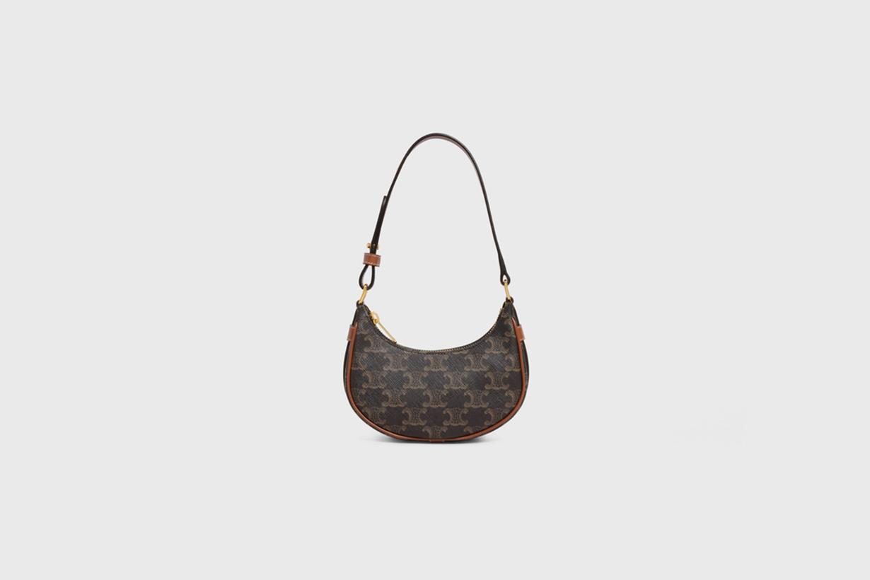 celine mini ava in triomphe canvas handbags 2021