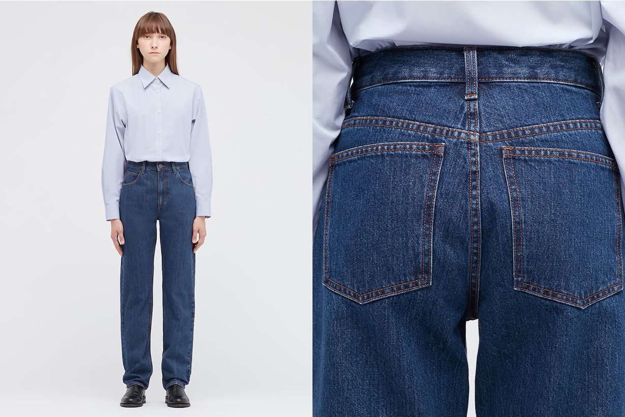 uniqlo u collection regular fit straight high rise jeans 2021